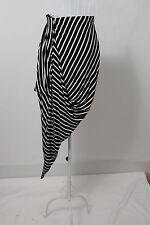 """Paper Heart"" Size 10 Ladies Funky Striped Asymmetrical Skirt. Perfect! Bargain"