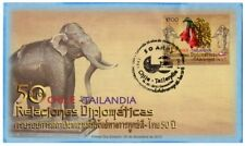 Chile Thailand 2012 FDC joint issue 50 yrs Diplomatic Relations Copihue Elephant