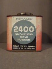 Hercules 2400 Smokeless Rifle Powder Gun Powder Litho Tin Advertising (Empty)