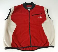 The North Face Mens Vintage Fleece Vest Size XL Red Black White