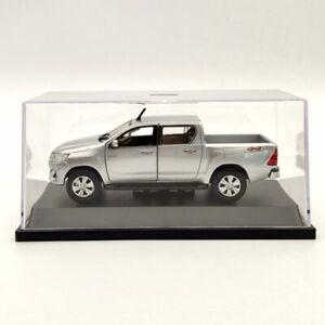 1:43 Toyota Hilux Revo 2.8 4X4 Diff Lock Silver Diecast Models Car  Pickup Truck