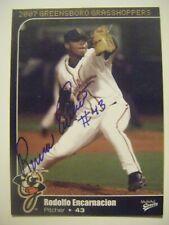 RODOLFO ENCARNACION signed 2007 GREENSBORO baseball card AUTO Autographed D.R nc