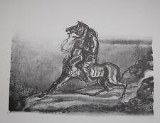 "A. Paul Weber, Original-Lithographie, ""Angst vor der eigenen Courage"""
