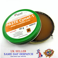 Cynel Soldering Flux Paste Rosin 40g Tin Nickel Plated Brass and Copper Surfaces