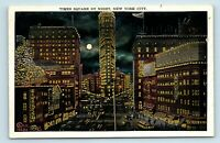 New York City, NY - EARLY 1900s VIEW OF TIMES SQUARE BY NIGHT - POSTCARD - M7