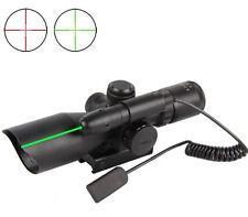 Chasse Tactique Fusil 2.5-10x40 Portée double lumineux avec Green Laser Mount
