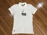 NWT Ping Women's White Golf Polo Shirt Top Blouse Size S MSRP $36 New