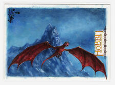 2015 Cryptozoic Hobbit Desolation of Smaug Potratz & Hai Painted Sketch Card
