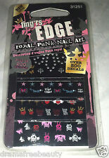 Fing'rs Edge *Royal Punk Nail Art 200+ Decals* Butterfly Star Heart Crown Skulls