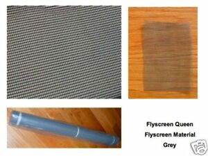 Flyscreen Material Insect Screening in Grey 1.2M wide sold by the Metre