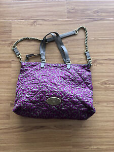 MULBERRY ROSIE NYLON TOTE IN MINI LEOPARD FOXGLOVE PINK WITH BRASS HARDWARE
