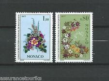 MONACO FLEURS - 1976 YT 1076 à 1077 - TIMBRES NEUFS** LUXE