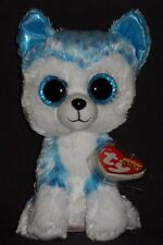 """TY BEANIE BOOS - SKYLAR the 6"""" HUSKY DOG - MINT with MINT TAG -JUSTICE EXCLUSIVE"""
