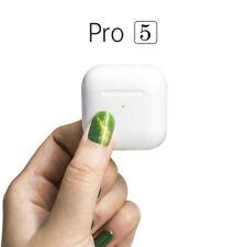 Cuffie Auricolari Bluetooth: PRO 5, Wireless, Con Custodia di Ricarica Rapida
