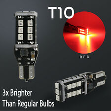 2X T10 60W High Power Chip LED Red 3RD Brake High Mount Stop Light Bulbs