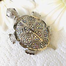 Austrian Crystal Tortoise Brooch/pendant