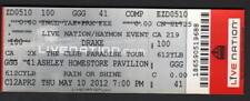 Drake Concert Ticket 5/10/2012 Phoenix, Az with Meek Mill, J.Cole 2 Chainz Waka