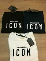 DSQUARED2 ICON Men SWEAT SHIRTS 100% Cotton Embroidered Logo (ICON)
