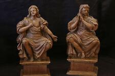 Paire de statues en bois  Fin XVIIeme siècle / Pair, wooden statue 17th-18th
