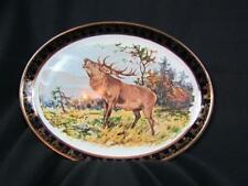 Oval Weatherby Hanley England Royal Falcon Ware 12x9.25 Moose 4-71