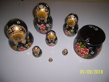 "7.5"" Russian Hand Painted Wooden Nesting Dolls ~Signed~ VGC Must See L@@K"