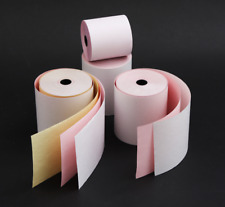3 Ply NCR Rolls 76x76x12.7mm - KITCHEN PRINTER TILL White/Pink/Yellow x20 Rolls
