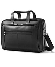Samsonite Leather Checkpoint Friendly Laptop Briefcase  $300 # 6 NEW