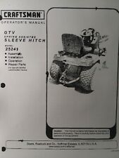 Sears Craftsman Lawn Garden Tractor Sleeve Hitch Owner & Parts Manual 757.25241