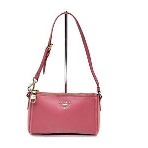 Prada Hand Bag  Pinks Leather 2306643