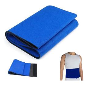 elastic heat waist cover gym neoprene fat burner blue rubber body sweat belt