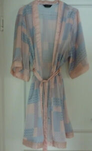 ~TCM Tchibo Damen Morgenmantel Bademantel Kimono 44/46, rosa-blau-weiß, neuw.~
