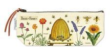 Cavallini - 100% Coton Naturel Vintage Mini Sac Pochette - 10x23cms - Bees &