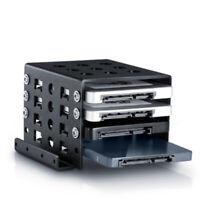 Adapter Mounting Bracket Hard Holder Rack Black 4 Bay 2.5 To 3.5 Inch HDD Metal