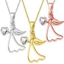 Kette + Schutzengel Anhänger veredelt mit Kristall von Swarovski® 925 Silber