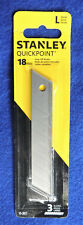 3pc Stanley Quickpoint 8-Point Snap-Off Blades L-Series 18mm Box Cutter Knife