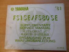 Werkstatthandbuch Yamaha FS1 FS80 SE (5A1) 1981 Service manual Manuel d`atellier