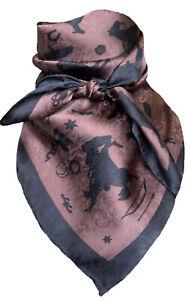 Wyoming Traders Wild Rag 34 Inch Cowboy Silhouette Silk Scarf Bandana