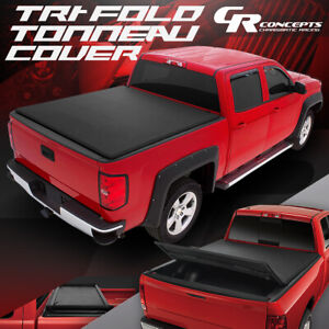VINYL SOFT TOP TRI-FOLD TRUNK TONNEAU COVER FOR 2007-2021 TOYOTA TUNDRA 8' BED