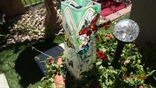 """Lots of Butterflies & Orchids, Lovely Joan Baker Designs,  Small Vase 10"""" Tall"""