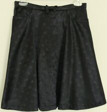 DANGERFIELD silky SKIRT Polka Dot highlights  Bow waist  28W  NEW! ~  Women sz 6
