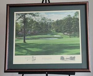 Gene Sarazen Auto & Linda Hartough Signed 15th Hole Firethorn Golf Augusta Litho