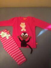 Lipfish Pink Monket Long Sleeve T Shirt & Leggins Age 6-12 Months BNWT