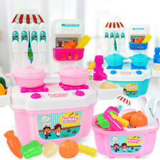 Mini Kids Pretend Cooking Playset Kitchen Toys Cookware Play Set Toddler Gift