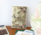 World Map Mini Note - Mini Sized Blank Line Notebook Jotter -Small Memo Pad-DSKC