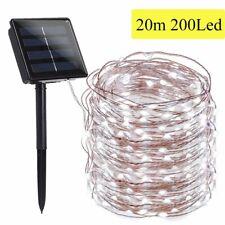 100/200 LED Solar Fairy String Light Copper Wire Outdoor Waterproof Garden Decor