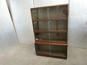 Vintage Simplex Mid Century 4 Sectional Library Bookcase / Display Cabinet