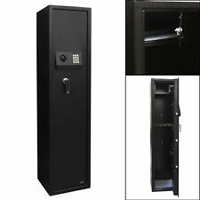 Steel Gun Safe Box Digital Electronic Keypad Lock Security Home Office 5 Rifle