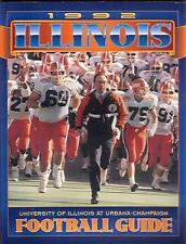 "1992 University of Illinois FB Guide - SCARCE - w/3 Bonus Glossy 8"" x 10"" Photos"