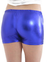 Womens Ladies Metallic Wet Look Hot Pants Short Shiny Disco Party PU Mini Shorts