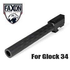 Faxon Flame Fluted Match Stainless Steel Barrel for Glock 34 G34 - Black Nitride